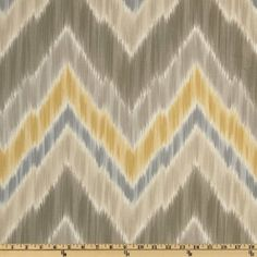 Amazon.com: 54'' Wide Braemore Tribal Find Ikat Chevron Putty Fabric By The Yard: Arts, Crafts & Sewing