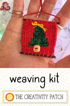 Learn to weave this mini Christmas tree ornament. The kit includes video tutorials that guide you through every step! Click the video to see the kit in my shop.