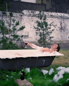 colin firth. bwahaha I LOVE this photo!!!!!!!! Bathing outside :)
