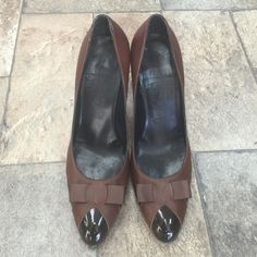 Salvatore Ferragamo heel size 9.5 100% Authentic Worn few time great condition only heel little worn. Hight; 4inch. Salvatore Ferragamo Shoes Heels
