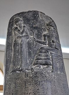 Hammurabi was the first king of the Babylonian Empire, but is best remembered for his 1760BC creation of the first known written set of laws in history. This codex was written on a basalt stele standing nearly 2 meters tall, top by a relief depicting Hammurabi raising his hand to his mouth in respect to the Babylonian God, who is likely to have been Marduk