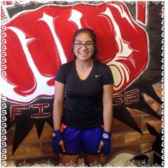 Paradise Valley member of the week is Izzy Perez. She and her mom have been a part of the Knockout family since February. She is a senior at Paradise Valley High School and she always finds a way to come in to the gym at least 3-5 days a week. Her favorite instructor is Tim because he does not let her give up in the the class and she feels so much better after her workout. Paradise Valley High School, Don't Let, February, Feels, At Least, Gym, Workout, Awesome, Work Outs