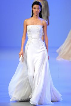Sfilata Elie Saab Paris -  Alta Moda Primavera Estate 2014 - white dress
