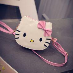 Cute Hot Cartoon Children Bag Hello Kitty Handbag Kids Tote Girls Shoulder Bag PU Leather Messenger Bag Wholesale Bolsas //Price: $33.63 & FREE Shipping //     #hashtag1