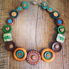 Chunky button necklace $45 AUD