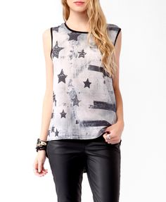 Sleeveless Stars & Stripes Tee | FOREVER21 - 2017306806