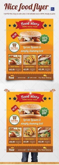 Food flyer design Flyer Design Awesome Pinterest Steak and - food flyer template