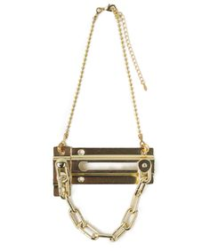 Chain Door Lock Necklace (good thing the hardware store is next to the craft store)