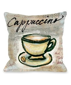 Look what I found on #zulily! Brown 'Cappucinno' Throw Pillow #zulilyfinds