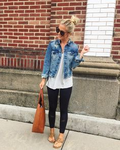 33 Fantastic Spring Outfit Idea for Women Style - Mode Frauen Cute Casual Outfits, Summer Outfits, Cute Jean Jacket Outfits, Denim Jacket Outfit Winter, Jean Jacket With Jeans, Comfortable Fall Outfits, Early Spring Outfits, Spring Outfits Women Casual, Cheap Outfits