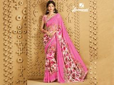 Get this stunning pink color georgette saree along with multicolour colour raw silk digital floral print blouse with satin lace border only at Laxmiapti Saree. Limited Stock. Hurry! #Catalogue #SANGEET Price - Rs. 1475.00 Visit for more designs@ www.laxmipati.com #GaneshChaturthi #Ganesh #monsoon #Shopping #Shoppingday #ShoppingOnline #fashionstyle #ReadyToWear #OccasionWear #Ethnicwear #FestivalSarees #Fashion #Fashionista #Couture #SANGEET0816 #LaxmipatiSaree #autumn #winter #women #her… Laxmipati Sarees, Georgette Sarees, Lace Border, Printed Sarees, Occasion Wear, Daily Wear, Bridal Collection, Pink Color, Ready To Wear