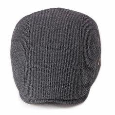 495faaa6c4f Men Visor Knit Newsboy Beret Caps Outdoor Casual Winter Cabbie Ivy Flat Hat