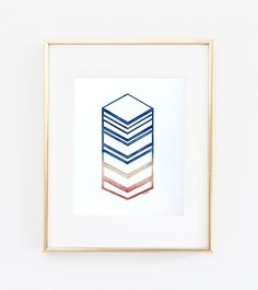 Chevron 1    Size: 5 x 7 or 8 x 10, please choose from the drop down menu. Unframed    Signed on the font in pencil, as well as signed, titled,