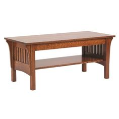 Coffee Table Mission Furniture Made In Usa Builder60 available at Amish Oak and Cherry