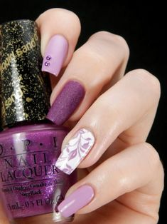 47 Ideas manicure pedicure designs perfect nails for 2019 Purple Nail Polish, Pink Nail Art, Cute Nail Art, Purple Nails, Nail Polish Colors, Cute Nails, Pretty Nails, Purple Ombre, Manicure Colors
