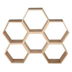 Etagère nid d'abeille en chêne MAYA