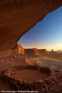 Native American Places of Worship   Native American Ruin, False Kiva Canyonlands National Park, Utah ...