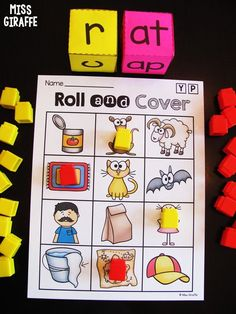 Fun CVC Words game to practice reading and blending word families Phonics Words, Phonics Reading, Phonics Activities, Cvc Words, Reading Activities, Teaching Reading, Toddler Activities, Word Family Activities, Cvc Word Families