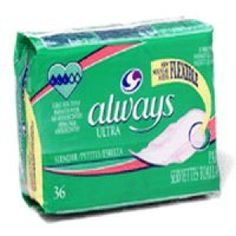 Always slender ultra thin maxi pads with wings - 36 pads / pack, 6 packs