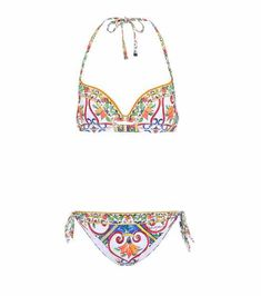 Bedruckter Bikini   Dolce & Gabbana