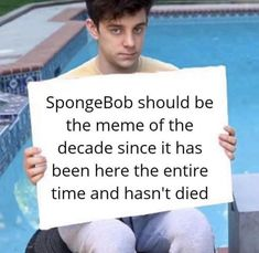 We must stand behind this. Funny Relatable Memes, Funny Posts, Funny Quotes, Youtube Memes, Spongebob Memes, Spongebob Squarepants, Quality Memes, Fresh Memes, Markiplier