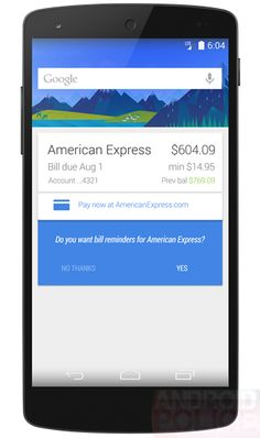 Google Now Bill Reminder Integration Rolling Out Now