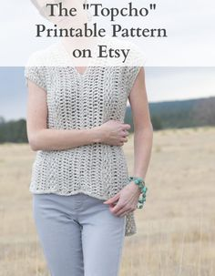 "The ""Topcho"" Easy Crochet Shirt Pattern – Mama In A Stitch"