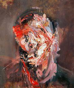 Antony Micallef - Self portrait. Flayed with gold