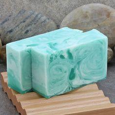 Coconut Lime Swirled Handmade Glycerin Soap Bar