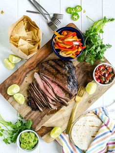 11 Recipes to Feed Large Family Gatherings – SheKnows Barbecue Recipes, Grilling Recipes, Beef Recipes, Beef Fajita Recipe, Best Grilled Steak, Mexican Food Recipes, Ethnic Recipes, Steak Fajitas, Chowder Recipes