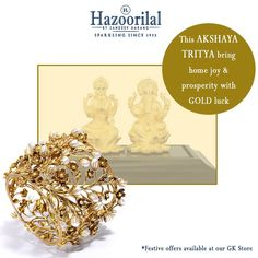 #HazoorilalBySandeepNarang wishes you a prosperous and joyful #AkshayaTritiya . Come at our GK Store today to avail mouthwatering discounts on gold, diamond and Polki jewellery. #HazoorilalCelebrates #HazoorilalFestiveOffers #HazoorilalGK #Hazoorilal