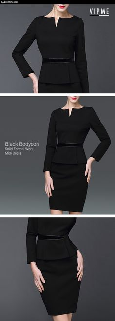 It might be the last chance to wear bodycon in 2016! The elegance and slim fit design allows you to become a low profile superstar in the office. Visit VIPme.com and shop now