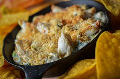 Crabby Spinach Artichoke Dip: Served with tortilla chips
