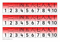 Chinese number tracks 1-10 (SB3606) - SparkleBox