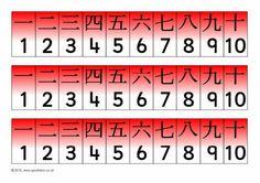 Chinese number tracks 1-10 (SB3606) - SparkleBox
