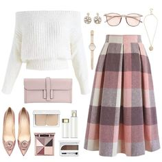 Super cute wish the skirt was just above the knee … – – Hijab Fashion Komplette Outfits, Classy Outfits, Skirt Outfits, Stylish Outfits, Modest Fashion, Hijab Fashion, Fashion Dresses, Look Fashion, Womens Fashion