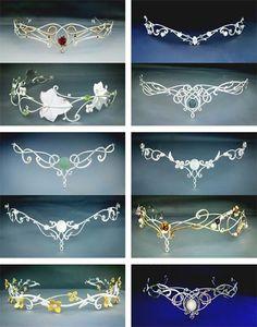 New wedding veils with hair down tiara bridesmaid dresses 18 ideas Cute Jewelry, Hair Jewelry, Jewellery, Elvish Wedding, Wedding Veils, Hair Wedding, Flower Crown Wedding, Wedding Flowers, Diy Crown