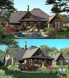 Cottage House Plan ID: chp-49218 - COOLhouseplans.com. Awesome backyard