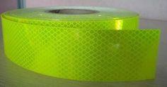 "Class 1 Fluoro Yellow Green 3M ""Diamond Grade Reflective Tape"" 50mm x 15 metres"