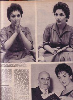 Pagine Pages Gina Lollobrigida Settimanaincom1958 COD03958 | eBay