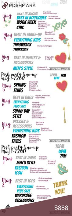 Posh Party Line Up May1-7 hi ladies! another week of parties here for you! see you! ❌⭕️❌⭕️ @larochelle Givenchy Makeup