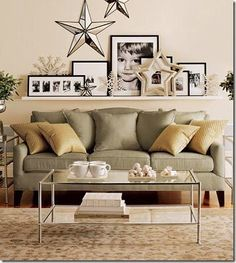 Wall decor above couch wall decor behind couch living room stunning decorating photos interior on chic My Living Room, Home And Living, Living Room Decor, Living Spaces, Living Room Wall Decor Ideas Above Couch, Wall Behind Couch, Barn Living, Above The Couch, Ideas Hogar