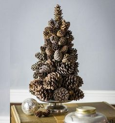 ❤ Egyszerű toboz karácsonyfa - karácsonyi dekoráció tobozból ❤Mindy -  kreatív ötletek és dekorációk minden napra