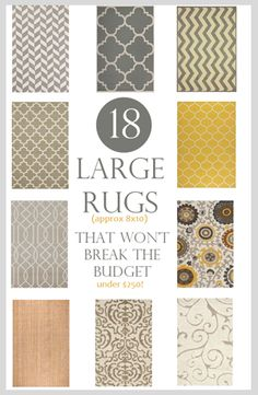 Large area rugs can really spruce up your living room. Check out these affordable and stylish rugs for your home! Home Living Room, Apartment Living, Living Room Decor, Diy Outdoor Furniture, Large Area Rugs, Deco Design, My New Room, Home Decor Inspiration, Home Projects