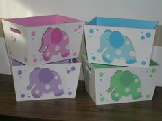 en colores pasteles Decoupage, Kit Bebe, Baby Shawer, Painted Chairs, Baby Elephant, Diy For Kids, Toy Chest, Shabby, Diy Crafts