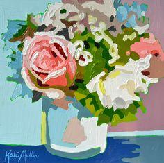 Flower Arrangement Oil Painting by Kate Mullin. www.katemullinart.com