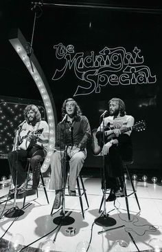 Bee Gees performing in the Midnight Special