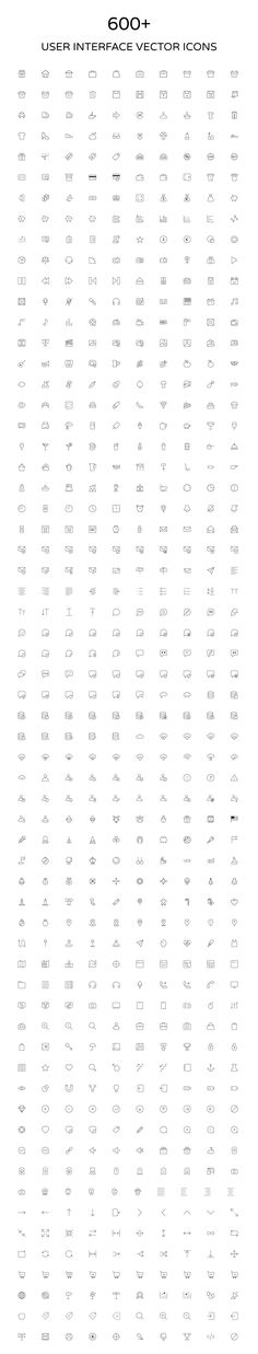 User Interface Outline Vector Icons by Creative Stall on Creative Market