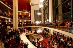 The Front Lobby of the Opera House on Opening Night – Photo by Ken Howard Courtesy