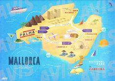 Mallorca Map Avis Asset